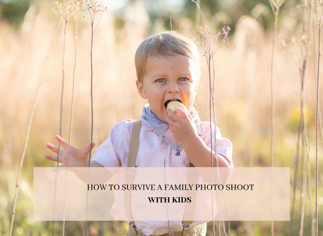 How to survive a family photo shoot - WITH KIDS