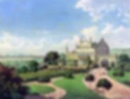Kommende mit Parkanlage und Blick auf Bonn Christian Hohe um 1850