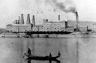 Bonn Zementwerk Rheinpanorama 1900