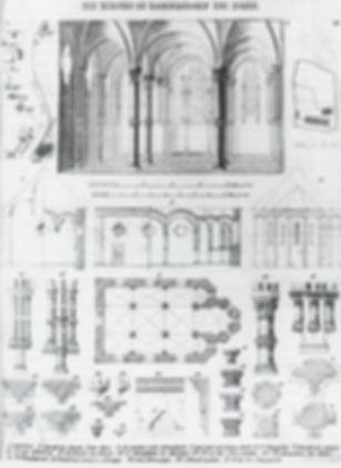 Kapelle Kommende_Bauzeichnungen_Lithogra