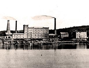 Bonner Zementfabrik 1870 Ansicht vom Rhein