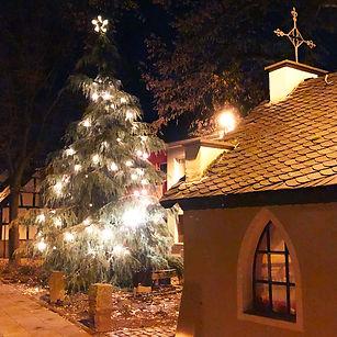Weihnachtsbaum Dorfplatz Ramersdorf 2019