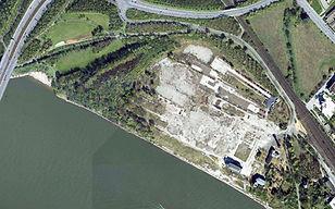 Luftbild Zementwerk-Areal Bonner Bogen 1997