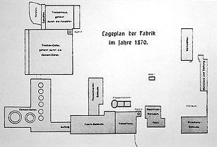 Lageplan 1870 Bonner Zementfabrik