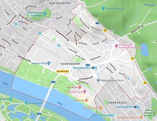 Ausschnitt Karte Google Maps Ortsteil Ramersdorf