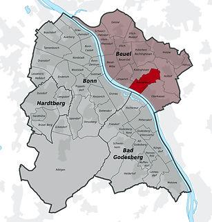 Karte Bonn Ortsteil Ramersdorf