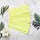 Thumbnail: Soft Yellow Bamboo Velour Fashion Mask