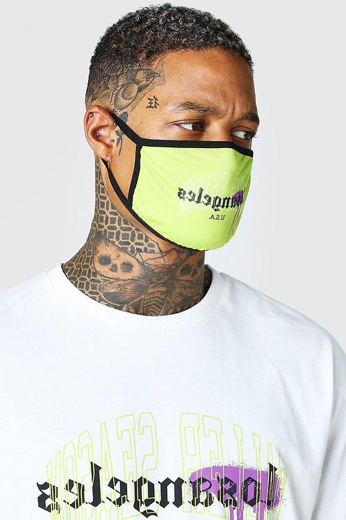 Lime Bamboo Velour Fashion Mask