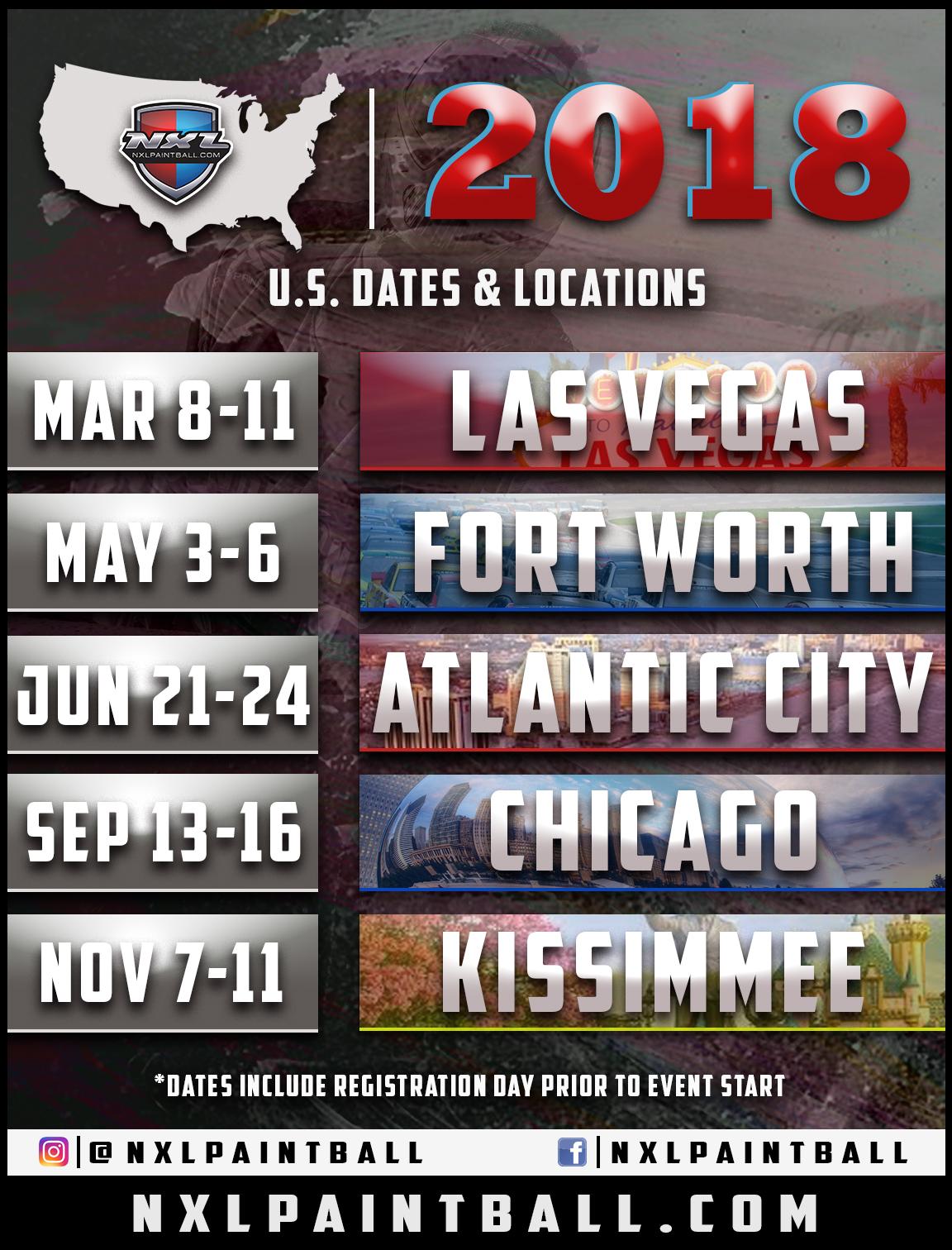 2018 nxl u s dates locations nxlpaintball com tournament