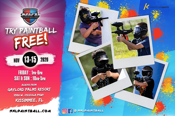 TRY PAINTBALL FREE AT NXL WORLD CUP 2020