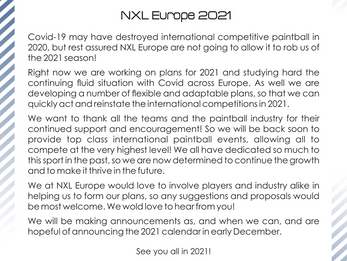 NXL Europe 2021 Announcement