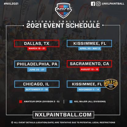 2021 NXL U.S. Event Schedule