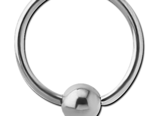 Silver Hinged Segment Ring with Ball - Surgical Steel