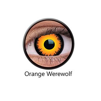 Orange Werewolf One Day Contact Lenses