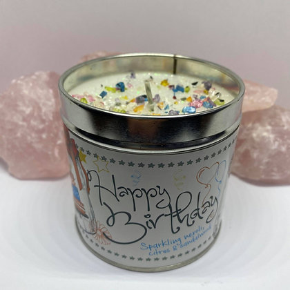 Happy Birthday Sparkling Crystal Candle