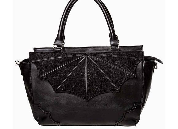 Black Widow Large Bat Wing Gothic Handbag
