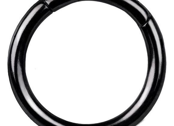Black Hinged Segment Ring - Titanium
