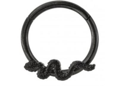 Black Snake Hinged Segment Ring- Surgical Steel