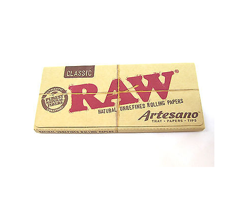 Raw Kingsize Slim Artesano Papers and Tips