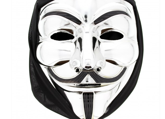 Silver Anonymous Mask