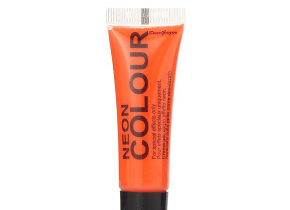 Neon Orange Face and Body Paint