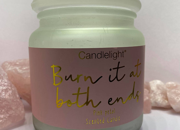 Burn It At Both Ends Frosted Glass Candle