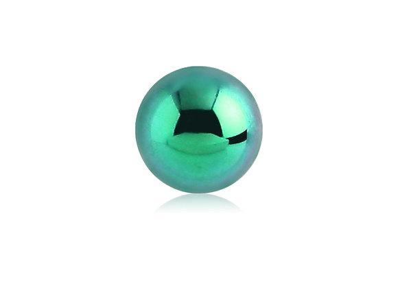 Green Externally Threaded Balls - Surgical Steel