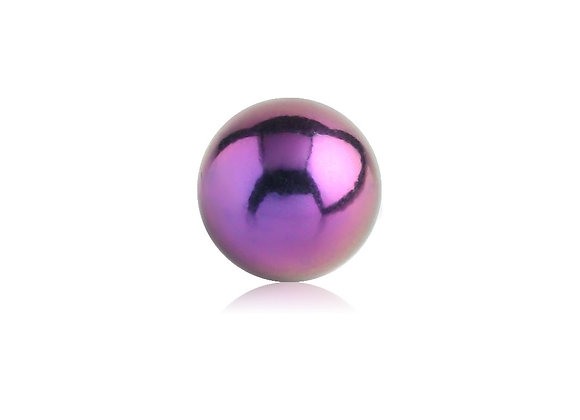Purple Externally Threaded Balls - Surgical Steel