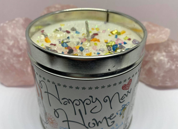 Happy New Home Sparkling Crystal Candle