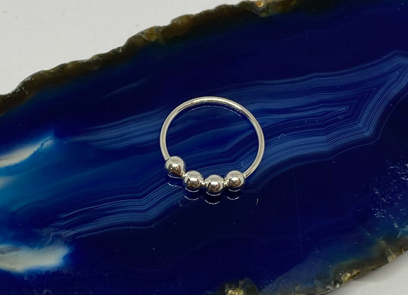 9mm Silver Nose Ring (0.8mm) 925