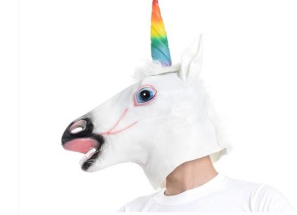 Unicorn Mask Rainbow Horn