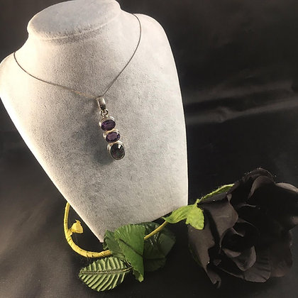 Amethyst and Mystic Quartz Necklace