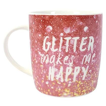 Glitter Makes Me Happy Mug