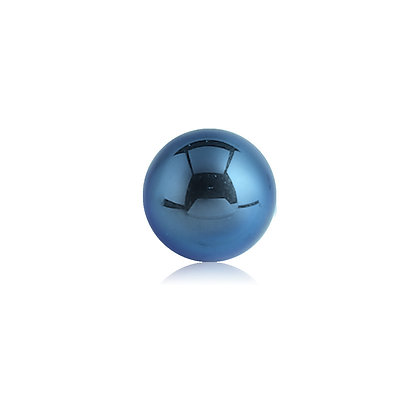 Dark Blue Externally Threaded Balls - Surgical Steel