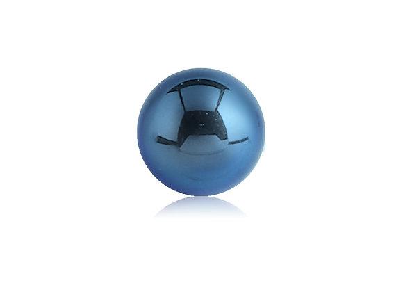 Dark Blue Externally Threaded Balls - Surgical Steel