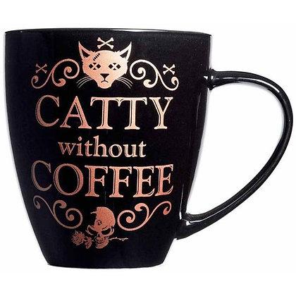 Catty Without Coffee Ceramic Mug
