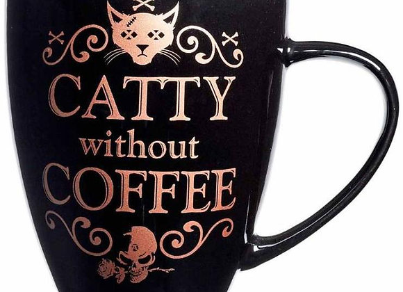 Catty Without Coffee Ceramic Mug