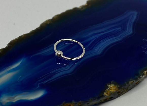 7mm Silver Nose Ring (0.8mm) 925