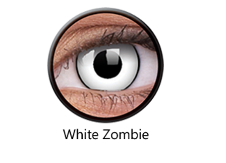 White Zombie One Day Contact Lenses