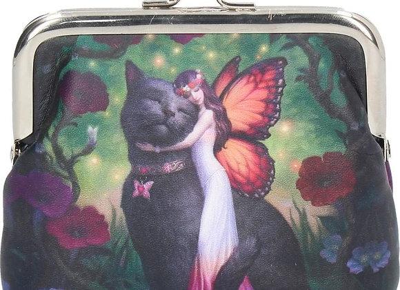 Black Cat & Fairy Coin Purse