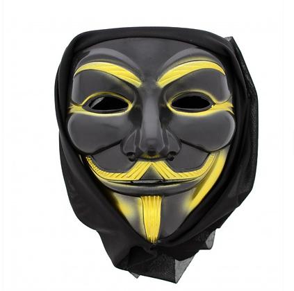 Black Anonymous Mask
