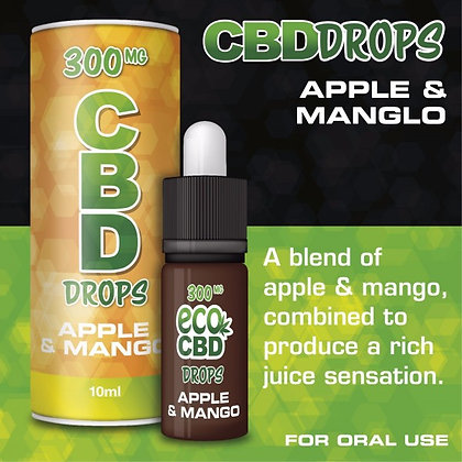 1000mg CBD Drops Isolate Apple and Mango