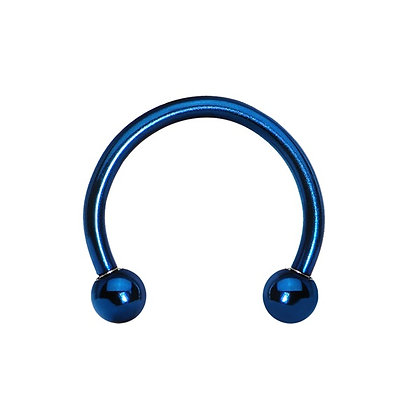 Dark Blue Horseshoes - Surgical Steel