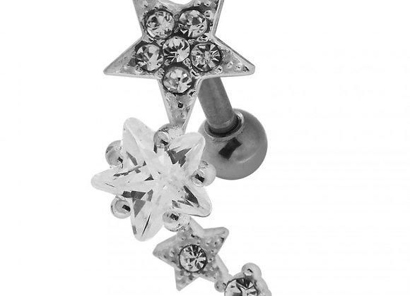 Multiple Sparkling Stars Labret/Barbell - 1.2mm