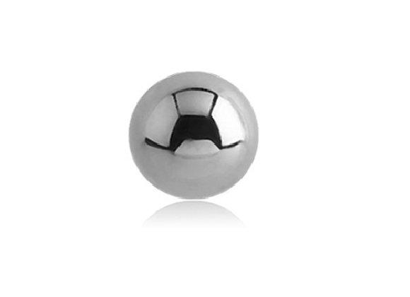 Silver Externally Threaded Balls - Surgical Steel