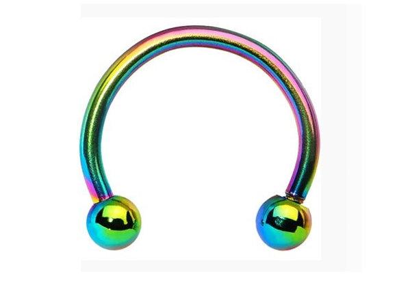 Rainbow Horseshoes - Surgical Steel