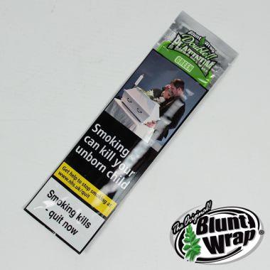Double Platinum Blunt Wrap - Green (Apple Martini)
