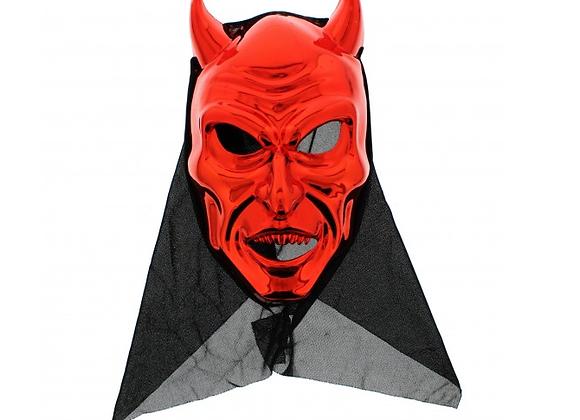 Metallic Red Halloween Demon Mask