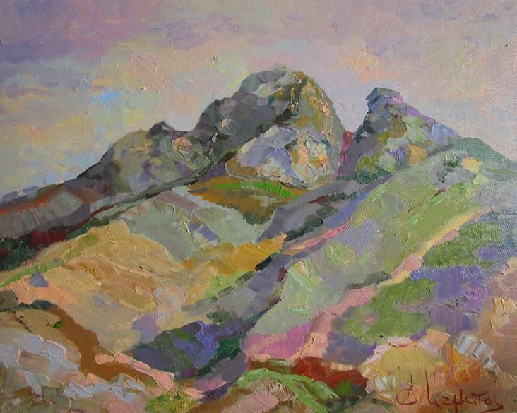 Маленькая чёрная гора   х.м.   40х50   2015 г.