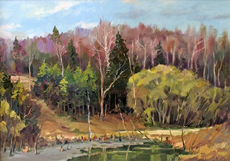 Весна в Карачарово   х.м.   50х70   2007 г.